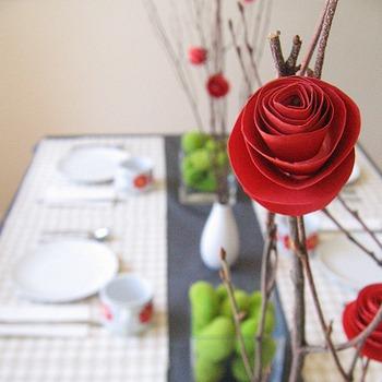 Розы на ветке своими руками