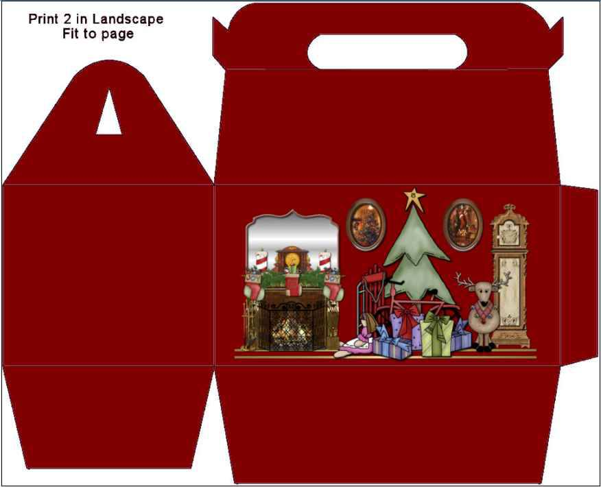 Коробочки для подарков шаблоны для нового года