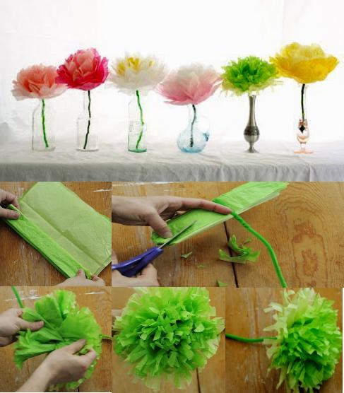 цветы из бумаги- что подарить на 8 марта своими руками