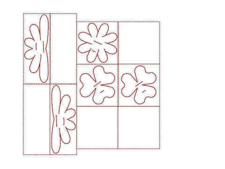 Объемные открытки на 8 марта с готовыми шаблонами