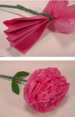 Как сделать цветы гвоздики из бумаги