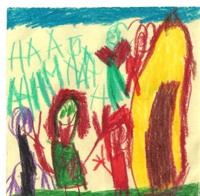 детские рисунки красками фото