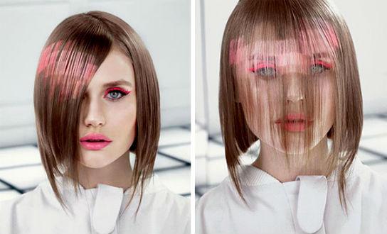 Стрижка на средние волосы и покраска