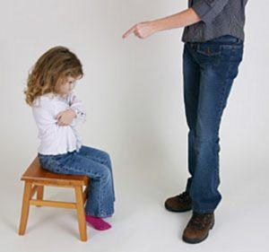 как ругать ребенка