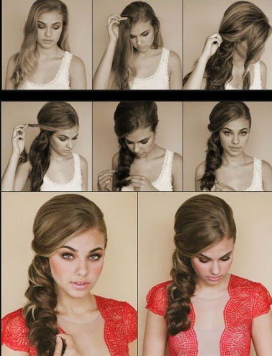 Прически для отдыха волос