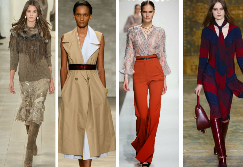 Мода осень платья