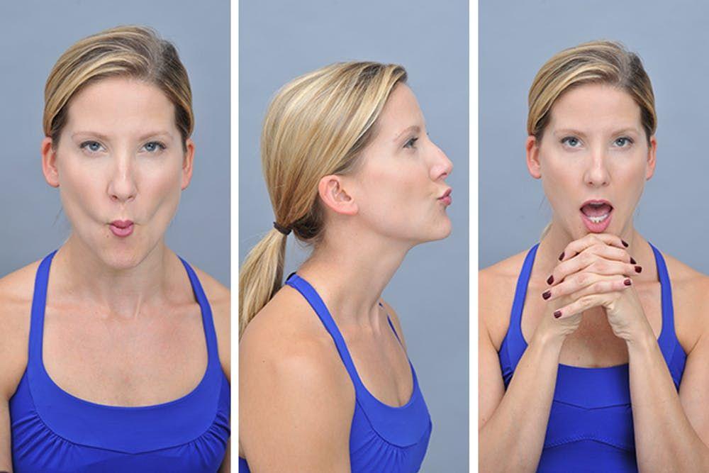 Как сделать чтобы щеки похудели видео